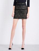 Alexandre Vauthier Metallic tweed mini skirt