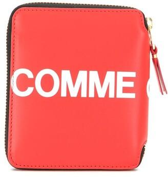 Comme des Garcons Logo Zipped Wallet