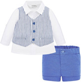 Mayoral Boy's Striped Vest 3-Piece Layette Set, Size 4-18 Months