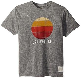 The Original Retro Brand Kids California Sunset Short Sleeve Tri-Blend Tee (Big Kids) (Streaky Grey) Boy's T Shirt
