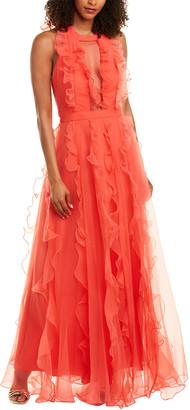 Flor Et. Al Flor Et.Al Textured Organza Gown
