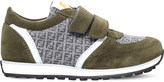 Fendi Mimosa logo suede trainers 9-11 years