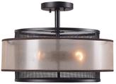 Kenroy Home Loretta 3-Light Semi Flushmount