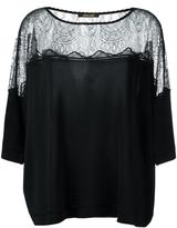 Roberto Cavalli sheer panel flared blouse - women - Polyamide/Polyester/Viscose - 38