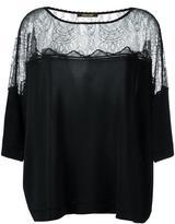 Roberto Cavalli sheer panel flared blouse