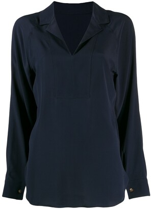 Cédric Charlier back V-neck blouse