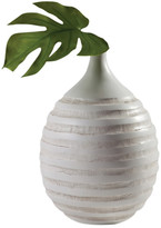 Torre & Tagus Carved Ring Resin Vase