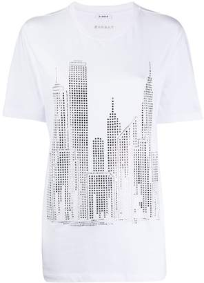 P.A.R.O.S.H. crystal embellished city T-shirt