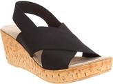 Charleston Shoe Co. Stretch Wedge Sandals - Med