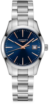 Longines Conquest Classic Stainless Steel Bracelet Watch