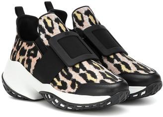 Roger Vivier Viv' Run leopard-print sneakers