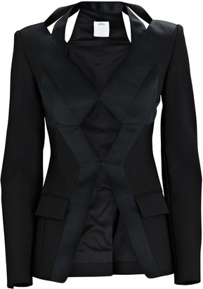 Area Cinched Cut-Out Blazer