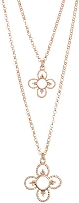 Area Stars Double Layer Medallion Necklace