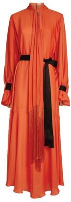 Amanda Wakeley Parachute Drape Tie-Neck Dress
