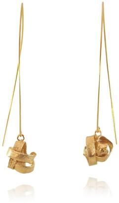 Karolina Bik Jewellery Algae Long Earrings Gold