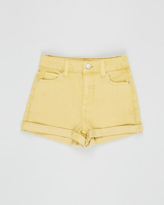 Cotton On High-Waisted Denim Shorts - Teens
