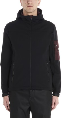 Prada Two Tone Zip Up Hooded Jacket