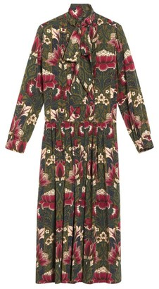 Max Mara Floral Midi Shirt Dress