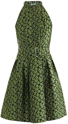 Kenzo Clouded leopard-print jacquard dress