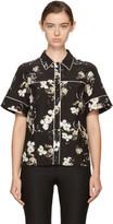Erdem Black & Ecru Liana Shirt