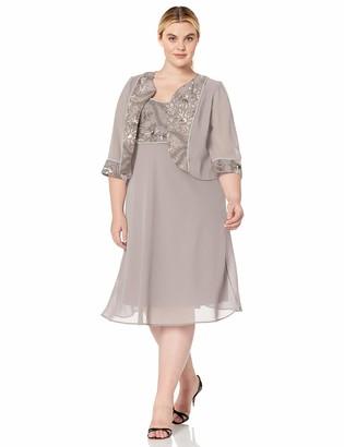 Le Bos Women's Plus Size Embellished MESH Jacket Dress