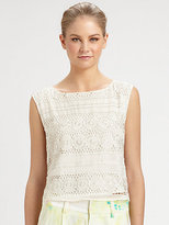 Vera Crochet Silk Crop Top