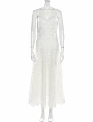 Jonathan Simkhai Lace Pattern Long Dress White