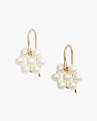 Poppy Finch Pearl Flower Earrings