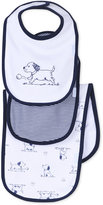 Little Me Baby Boys' 3-Piece Puppy Toile Bib and Burp Cloth Set