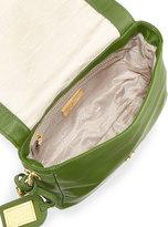 Badgley Mischka Nora Quilted Top Shoulder Bag, Avocado