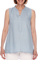 Sag Harbor Baby Blues Sleeveless Shirt