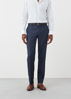 MANGO MAN Regular-Fit Check Suit Trousers