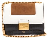Fendi Kan U Small Leather And Suede Cross-body Bag - Womens - Black Tan