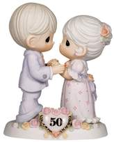"""Precious Moments Precious Moments, Anniversary Gifts, """"We Share A Love Forever Young"""", 50th Anniversary, Bisque Porcelain Bisque Porcelain Figurine, #115912"""
