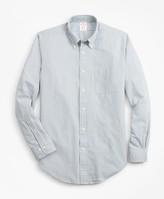 Brooks Brothers Madison Fit Gingham Seersucker Sport Shirt