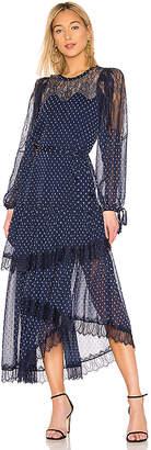 BCBGMAXAZRIA Lace Tiered Dress