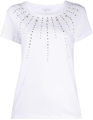 Patrizia Pepe crew neck studded T-shirt