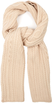 Max Mara Feroce wool cable-knit scarf