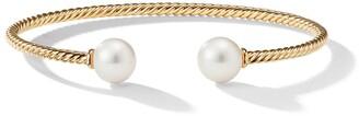 David Yurman 18kt yellow gold Solari pearl cuff bracelet