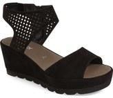Gabor Grid Perforated Platform Sandal (Women)
