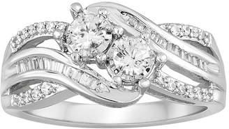 MODERN BRIDE Two Forever 1/2 CT. T.W. Diamond 10K White Gold Engagement Ring