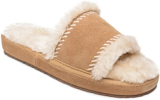 Minnetonka Loni Faux Fur Slide Slipper