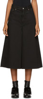 MM6 MAISON MARGIELA Black Denim Culottes