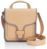 Rebecca Minkoff Top Handle Leather Feed Bag - Beige
