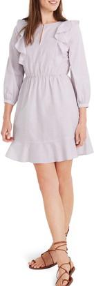Madewell Ruffle-Shoulder Minidress