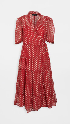 Sister Jane Scarlet Whistle Midi Wrap Dress