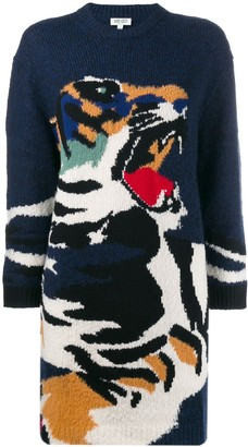 Kenzo Intarsia Tiger Sweater Dress