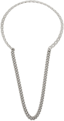 Maison Margiela Silver Drop Chain Necklace