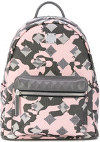 MCM square pattern backpack