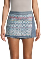 Ramy Brook Embroidered Denim Skort